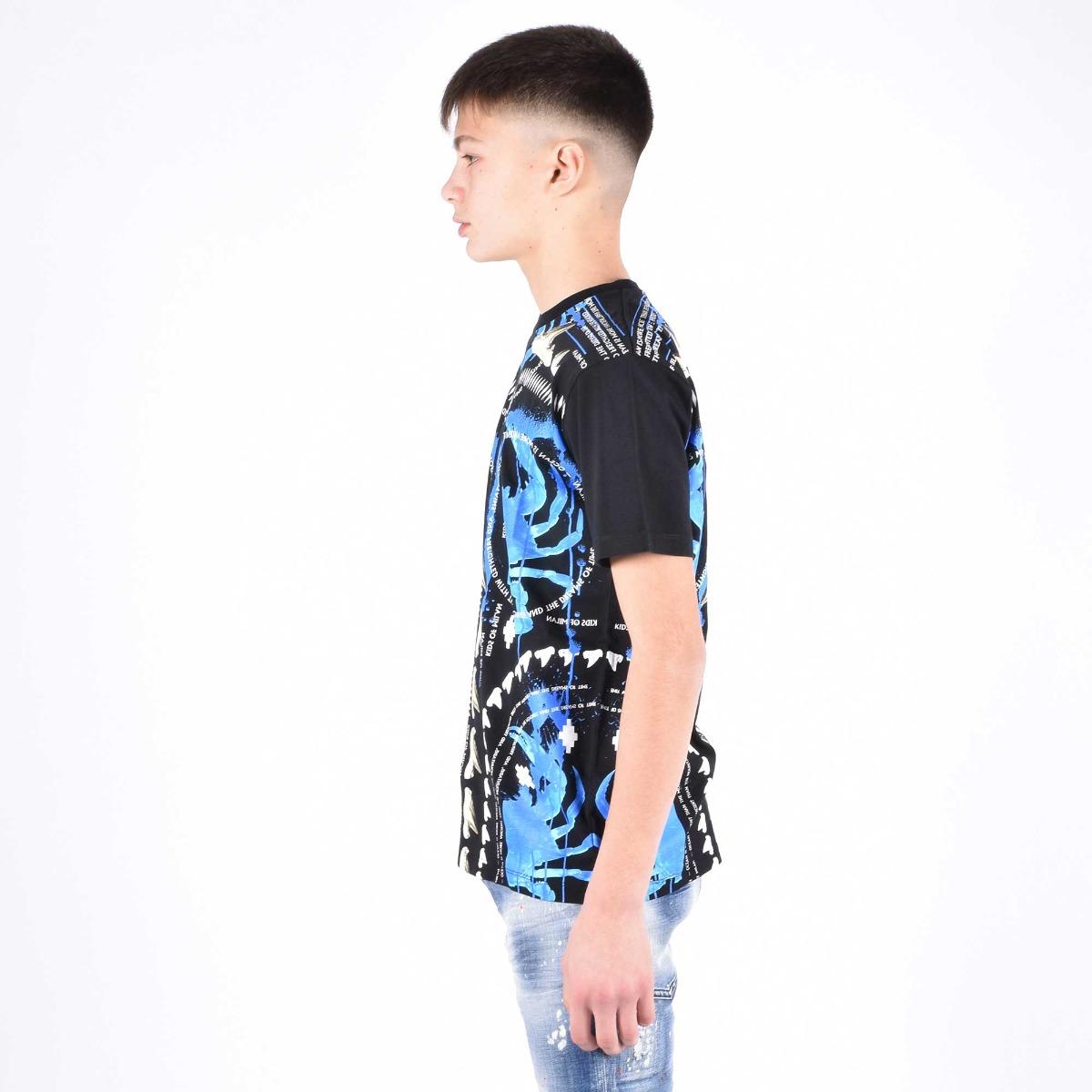 T-shirt stampa tribale - Nero
