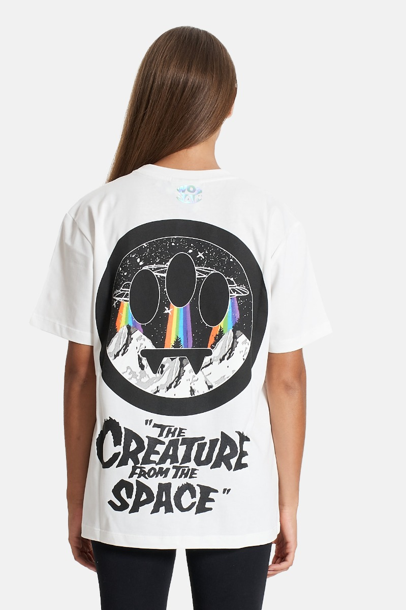 T-shirt unisex universo - Bianco