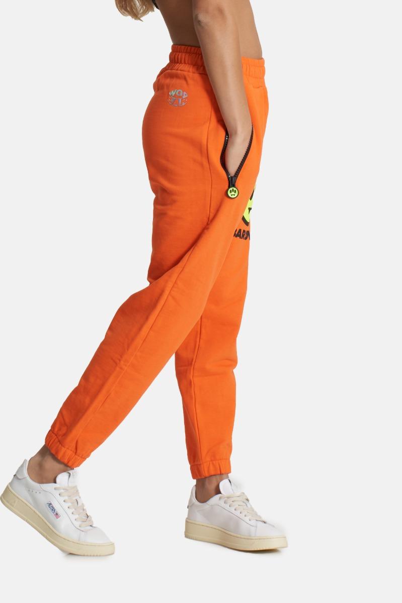 Pantalone tuta con logo-Arancio