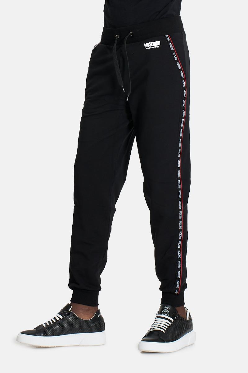 Pantalone piping rosso -Nero