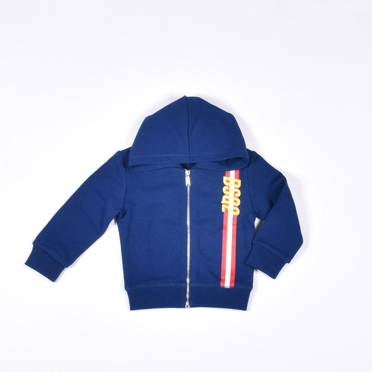 Tuta baby logo verticale- Blu