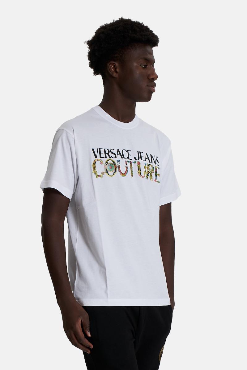 T-shirt logo bijoux -Bianco