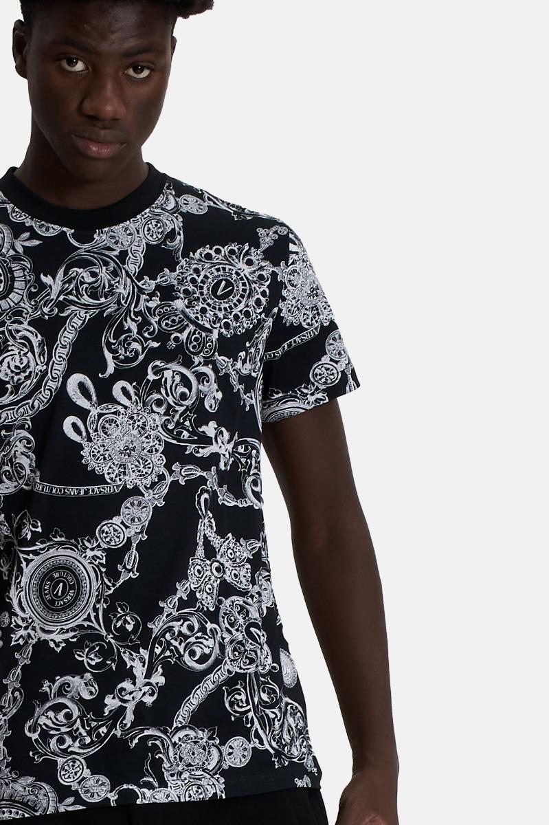 T-shirt st baroque bijoux -Nero