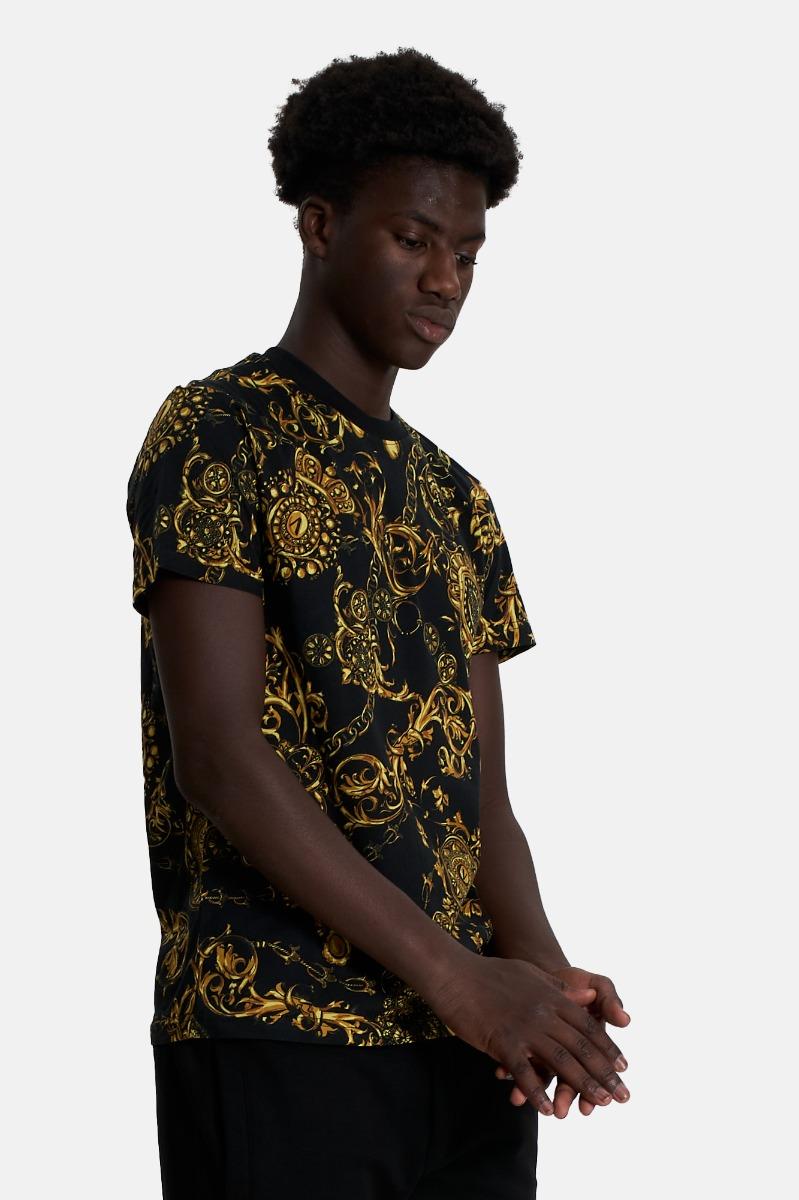 T-shirt print bijoux -Nero