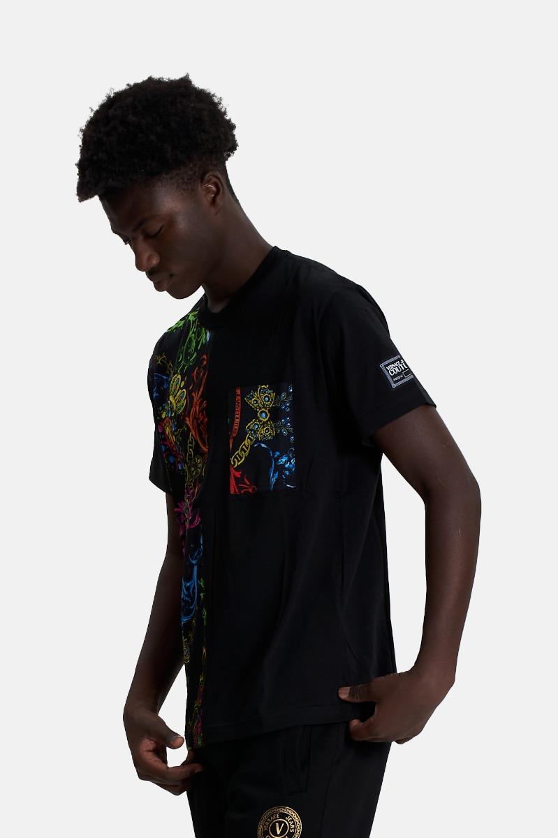 T-shirt print bijoux - Nero